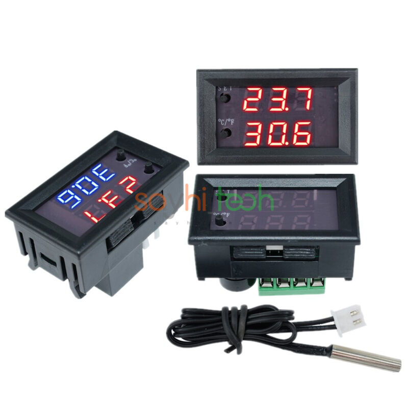 DC12V W1209WK LED Display thermostat Temperature Control Sensor With 1% Cable