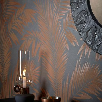 PRECIOUS METALS ARDITA LEAVES WALLPAPER - COPPER - Arthouse 673000 FEATURE WALL