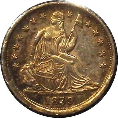 Click now to see the BUY IT NOW Price! 1839 LIBERTY SEATED HALF DIME   STARS NO DRAPERY   H10C
