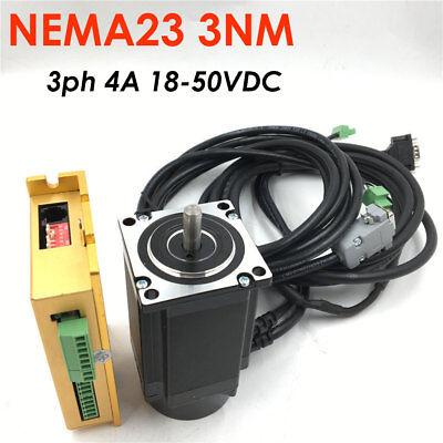 Nema23 3nm Closed-loop Stepper Motor 3ph Hybrid Servo Driver Kit Fr Router Laser
