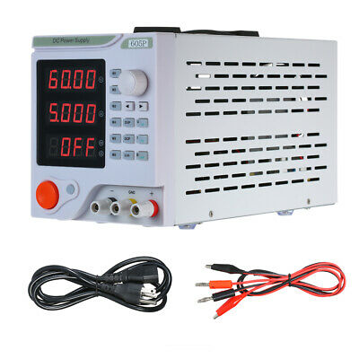 4 Digits Led Programmable Dc Power Supply Variable Adjustable 0-60v 0-5a Us New