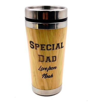 Personalised Best Dad Reusable Sustainable Bamboo Coffee Cup (Best Reusable Coffee Mug)