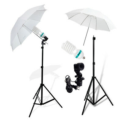 Photography Photo Studio Continuous Lighting One Umbrella Light Lamp Stand Kit