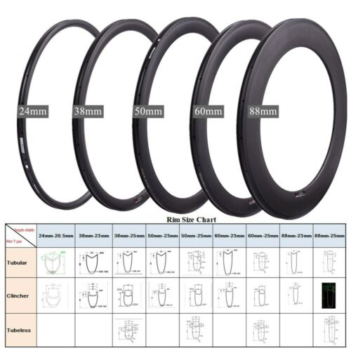 700C Road Bike Rim Tubular/Clincher/Tubeless Rim Brake Carbon Fiber Rim 20/24H