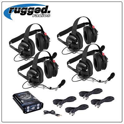 4 Seat 686 Intercom Kit System w/ Headsets Off Road Racing Rugged Radio PCI