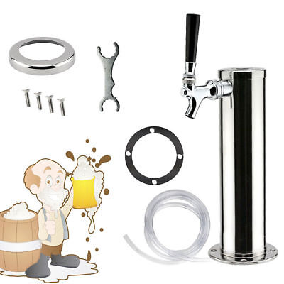 Chrome Single Tap Stainless Steel Draft Beer Towers Faucets Bar Home Kegerator