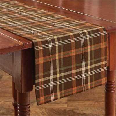 Country Bountiful Table Runner 13x54 Brown Green Orange Yell
