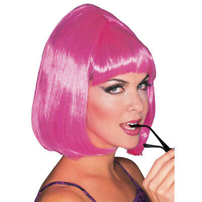Pink Shoulder Length Bouffant Style Starlet Fashion Wig with Bangs](Pink Bouffant Wig)