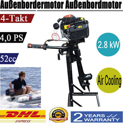 4-stroke 4hp Outboard Boat Engine Outboard Motor With Air Cooling System 52cc Us