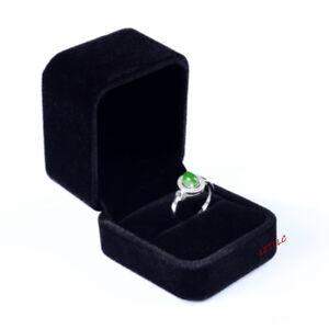 Deluxe Black Velvet Ring Earring Box Proposal, Engagement Pocket size High Qlity