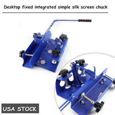 Desktop Simple Silk Screen Printing Chuck T-shirt Screen Printer Hinge Clamp