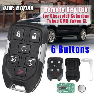 1PC 6 Buttons Remote Key Fob For Chevrolet Suburban Tahoe GMC Yukon XL HYQ1AA