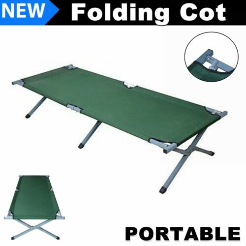 Portable Folding Camping Bed Military Sleeping Camping Cot w