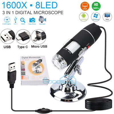 1600x Zoom Hd 1080p Usb Microscope Digital Magnifier Endoscope Video Camera A