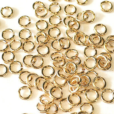 10 14K Solid Yellow Gold Jump Rings 3mm Jumpring Wire 24 gauge Top Quality 14KT