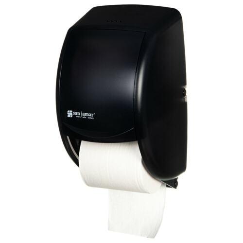 San Jamar DUETT Standard Bath Tissue Dispenser Black Pearl R3500TBK