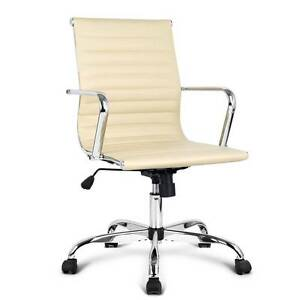 Replica Eames PU Leather Office Chair - Beige Sydney City Inner Sydney Preview