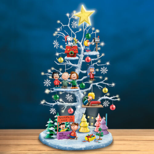 THE PEANUTS CHRISTMAS TREE LED LIGHTED SCULPTURE SNOOPY, WOODSTOCK, LUCY, CHARLI