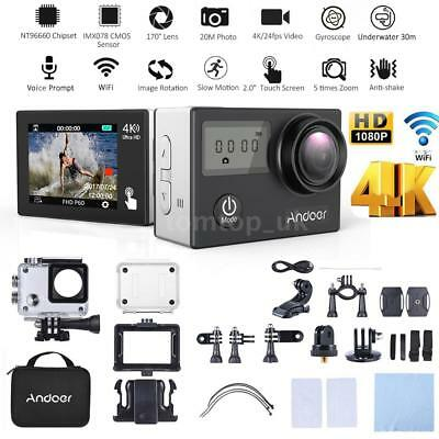 Andoer AN2 Ultra 4K WiFi 1080P FULL HD 20MP ActionCam Sports Kamera Wasserdicht