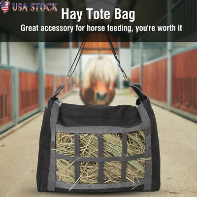 600D Slow Feed Horse Hay Net Bag Keeping Hay Secure and Dry Horse Riding Gear