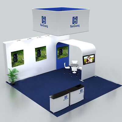 20ft Trade Show Display Booth Set Pop Up Back Wall Archway Stand Hanging Sign