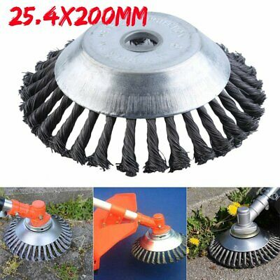 Weed Brush Rotary Twist Knot Steel Wire Wheel Brush Landscaping Accessaries BE