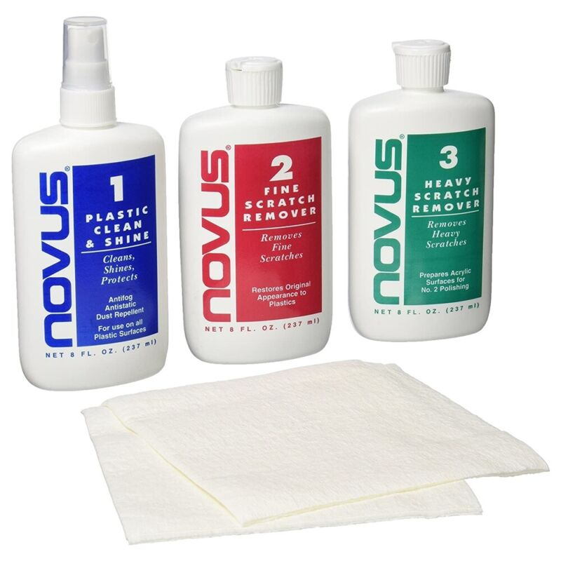 Novus® Plastic Polish System - 3 Solution Kit - 8oz each
