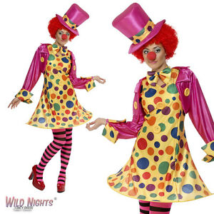 LADIES CLOWN LADY FANCY DRESS COSTUME XL 20-22