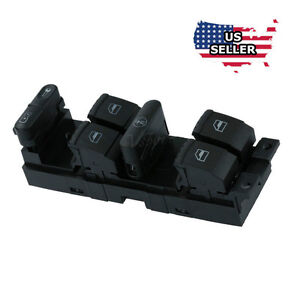 New Master Power Window Switch Front Left Driver Side for VW Golf Jetta Passat