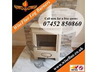 Beautiful log burners supplied and installed by H.E.T.A.S approved installers