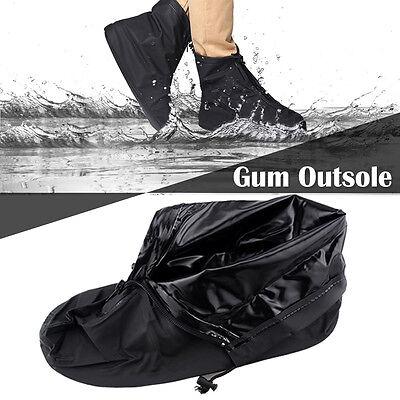 Waterproof Overshoe (PVC Rain/Waterproof Overshoe Anti-slip Reusable Zipper Boot Shoe Cover)