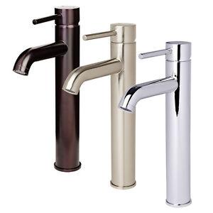 Euro Contemporary Bathroom Faucet Vessel Sink Vanity Lavatory Popup Drain Set