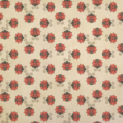 - Cute Ladybugs Kraft Present Gift Wrap Wrapping Paper