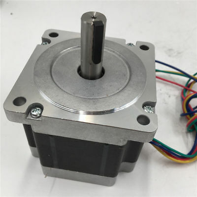 86 6.5nm Stepper Motor Keyway Nema34 2ph L98mm 929oz.in 6a 4wire For Cnc Machine