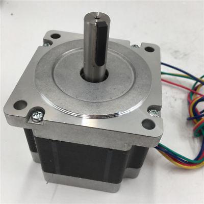 86 6.5nm Stepper Motor Keyway Nema34 2ph L98mm 929oz.in 6a 4wire For Cnc Machine