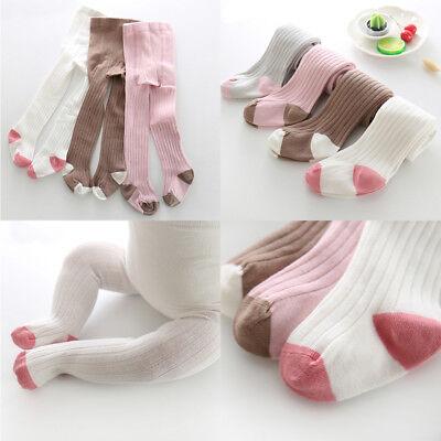 Soft Baby Girls Warm Cotton Tights Pantyhose Tights Baby Kids Stockings 0-6T - Girls Cotton Tights