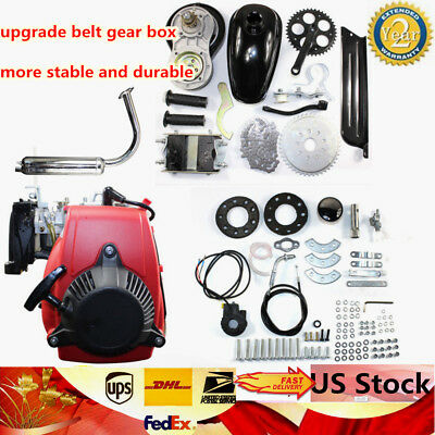 4-Stroke 49CC GAS PETROL MOTORIZED BICYCLE USUS ENGINE MOTOR Set W/ Belt Gear