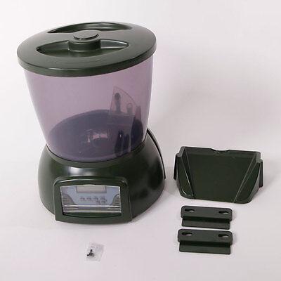 4.25L Automatic Fish Food Feeder Digital Programmable Timer Pond Aquarium Tank