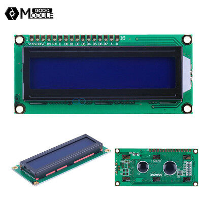 1602 16x2 Character Lcd Display Module Hd44780 Controller Blue Blacklight Gm