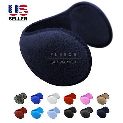 Ear Muffs Fleece Earwarmer Winter Ear warmers Mens Womens Behind the Head Design - Mens Ear Warmers