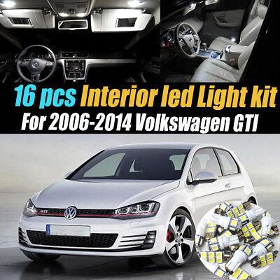 LED Lights Interior Package Kit For VW Jetta MK4 1999-2004 14pcs - White