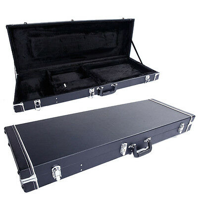 Electric Hard-Shell Guitar Rectangular Case w/ Full Neck Support Universal