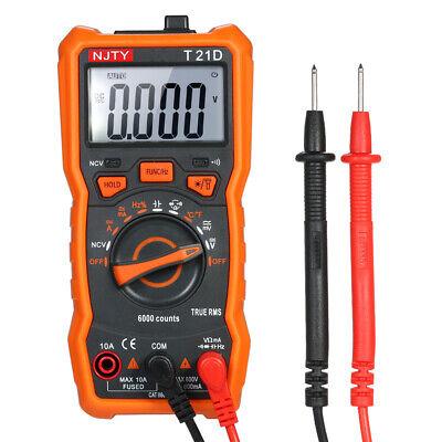 Njty Digital Multimeter 6000 Counts Noncontact True Rms Meter Acdc Voltage U2m1