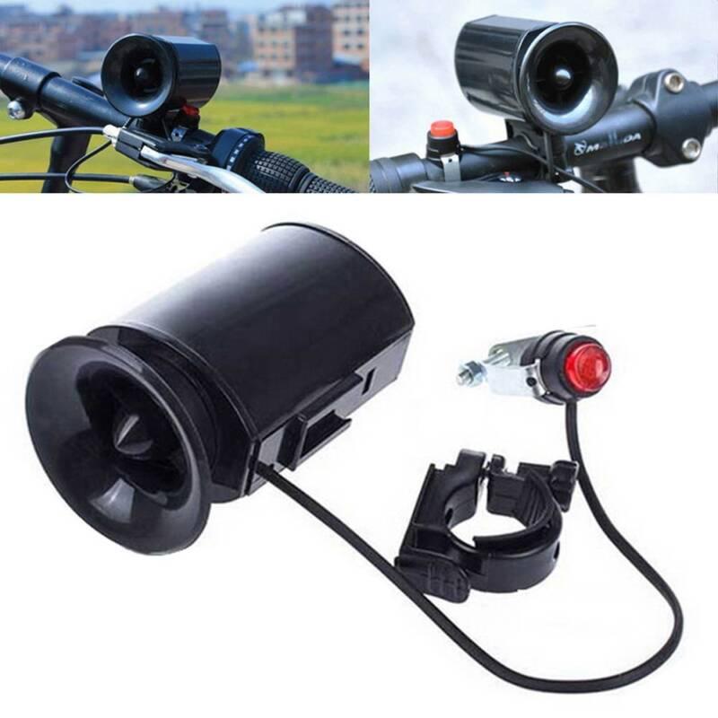 6 Kind of Sounds Black Loud Bike Bicycle Horn Electronic Bell Siren Alarm FR
