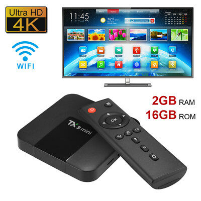 TX3 Mini Smart Android TV Box Quad Core 1080P Wifi Streaming Media Player AH393