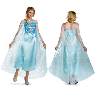 Frozen Disney Womens Elsa Deluxe Halloween Costume (Disney Halloween Costumes Women)