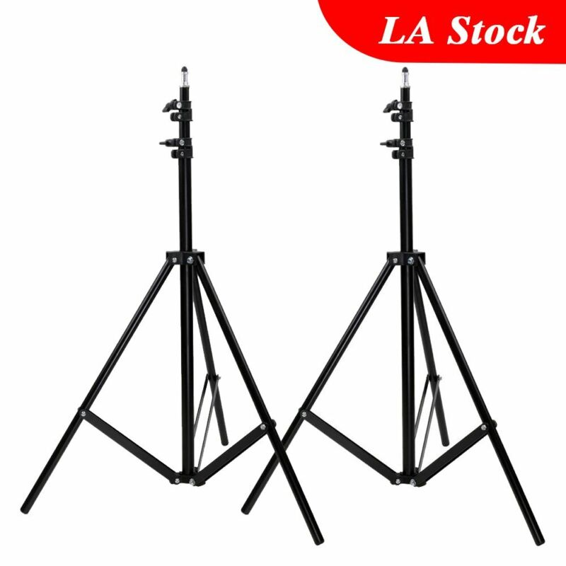2x Studio Photography Video Camera Lighting Light Stand For Godox Meike Aputure