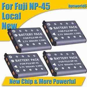 4X-Battery-for-Fuji-NP-45-NP-45A-FinePix-J10-J100-J110W-J120-J150W-Z200FD-Z20FD