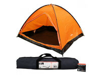 4 Man Camping Dome Tent Orange