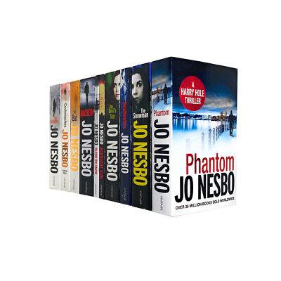 Jo Nesbo 10 Books Collection Set Harry Hole Thriller Collection Inc Phantom, Bat